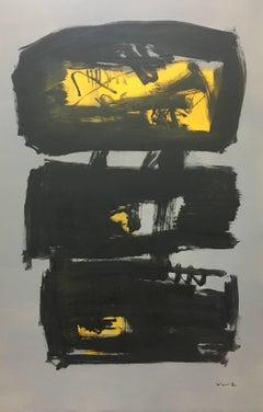 Ruz Black character- original abstract acrylic painting