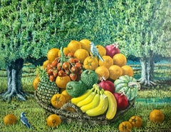 Large Landscape with Exotic Fruit Basket