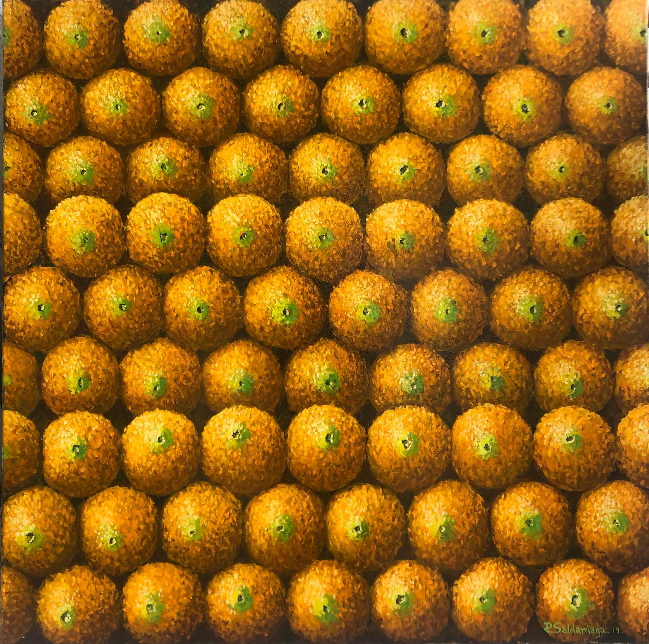 Wall Of Oranges