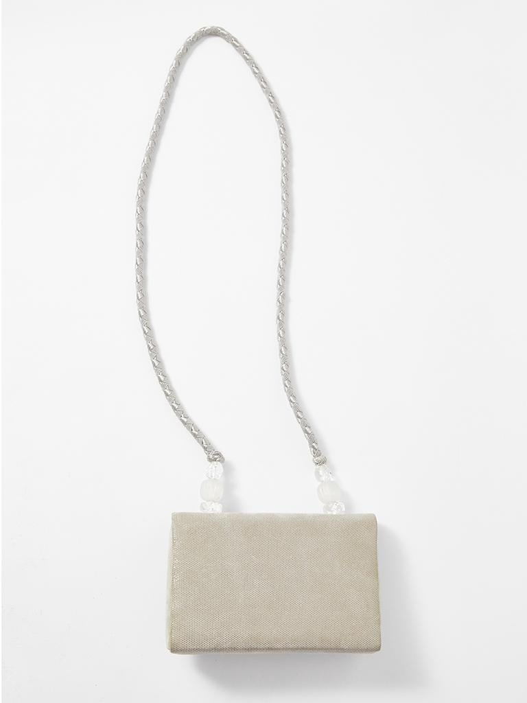 Rafael Sanchez Pearlized Suede Evening Bag  In Good Condition For Sale In New York, NY