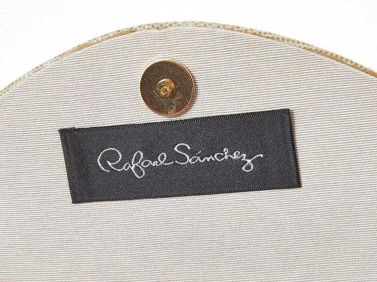 Rafael Sanchez Pearlized Suede Evening Bag  For Sale 2