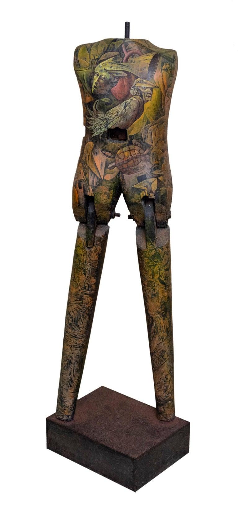 Rafael Trelles Golem Puerto Rican Art Wood Sculpture For Sale At