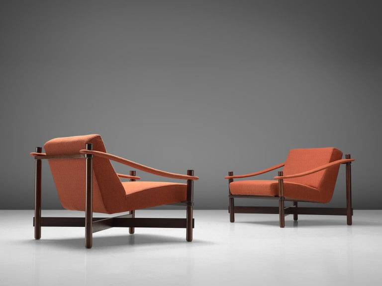 Mid-Century Modern Rafaella Crespi Set of Two Lounge Chairs For Sale