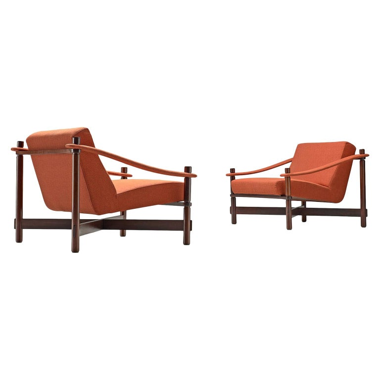 Rafaella Crespi Set of Two Lounge Chairs For Sale