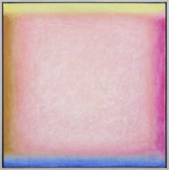 """""""Soglia Pink"""" contemporary Italian abstract painting oil on canvas pink"""