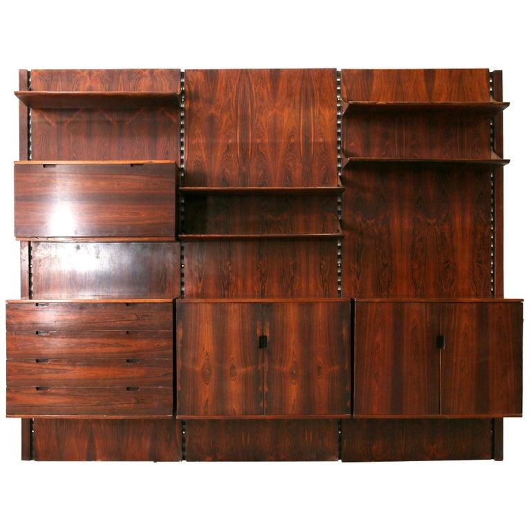 Raffaella Crespi for Mobilia bookcase, 1962, offered by Vintage Domus SRL