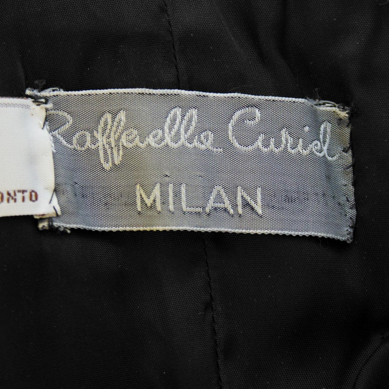 Raffaella Curiel 1980's Black Strapless Cocktail Dress with Roses For Sale 3