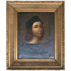 Raffaello Sanzio Self Portrait Italian School 18th Century