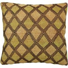 Raffia Textile Pillow, circa 20th Century 1526p
