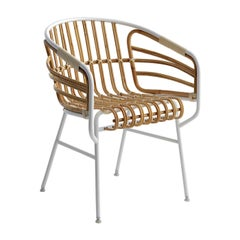 Raffia White Rattan Chair by Lucidi Pevere