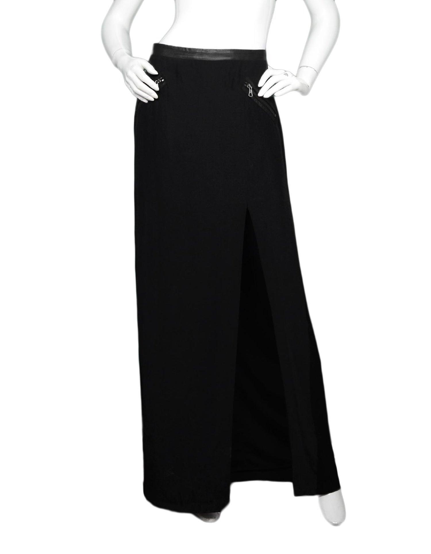 really cheap new specials great variety models Rag & Bone Black Silk Maxi Skirt W/ Slit Sz 6