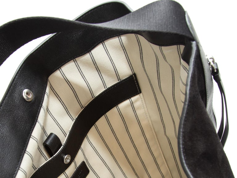 Rag & Bone Black Suede Riser Carryall Bag In Excellent Condition For Sale In New York, NY