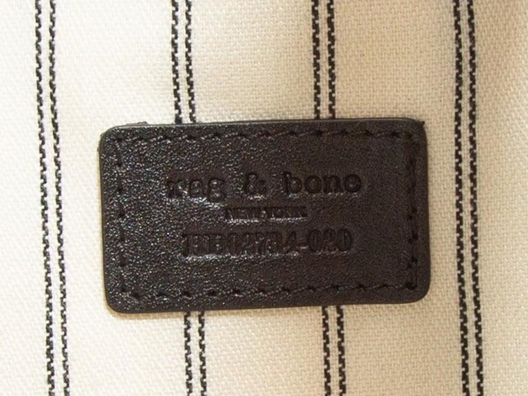Women's Rag & Bone Black Suede Riser Carryall Bag For Sale