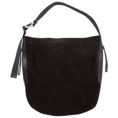 Rag & Bone Black Suede Riser Carryall Bag