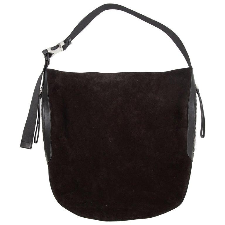 Rag & Bone Black Suede Riser Carryall Bag For Sale