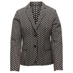 Rag & Bone Black & White Arrow Patterned Blazer