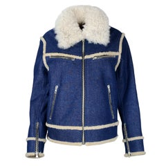 Rag & Bone NWT Andrew Denim Jacket w/ Shearling Lining sz Medium rt $2195