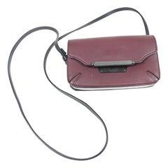 Rag & Bone Plum/Black Leather Mini Crossbody Flap Bag