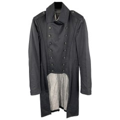 RAG & BONE Size 36 Black Cotton Double Breasted Tails Coat