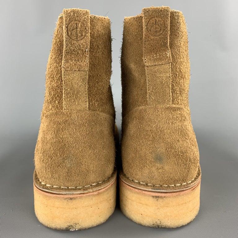 RAG & BONE Size US 10 / EU 43 Tan Textured Military Lace Up Men's Boots For Sale 2