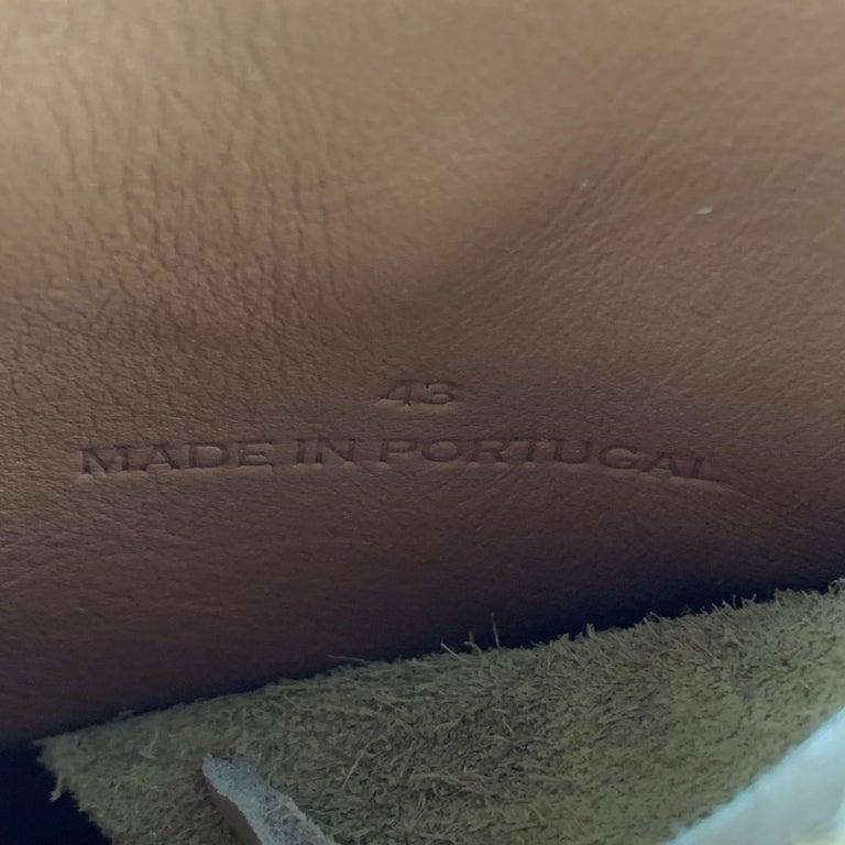 RAG & BONE Size US 10 / EU 43 Tan Textured Military Lace Up Men's Boots For Sale 3