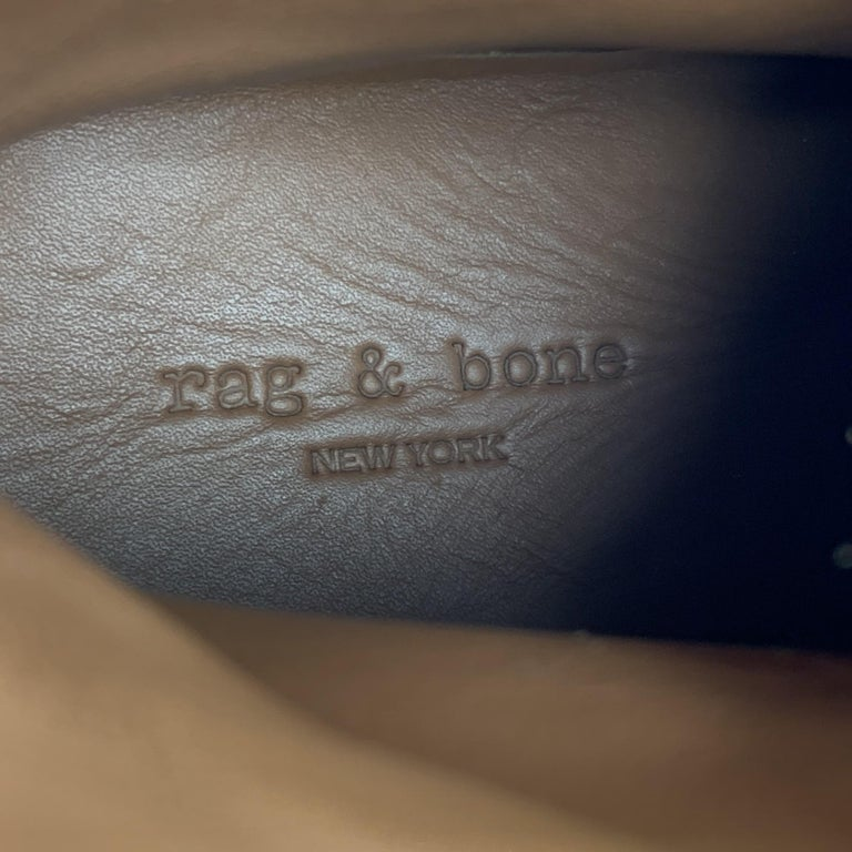 RAG & BONE Size US 10 / EU 43 Tan Textured Military Lace Up Men's Boots For Sale 4