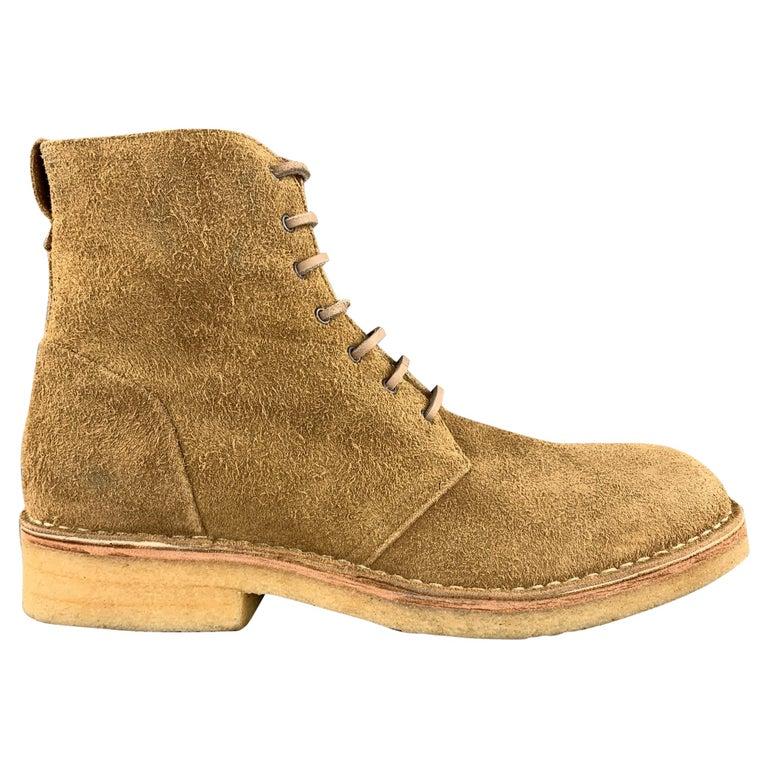 RAG & BONE Size US 10 / EU 43 Tan Textured Military Lace Up Men's Boots For Sale
