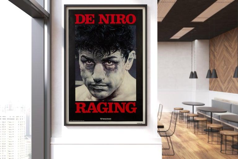 Late 20th Century 'Raging Bull' Original Vintage Movie Poster, American, 1980