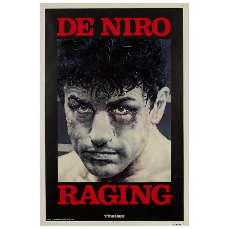 'Raging Bull' Original Vintage Movie Poster, American, 1980