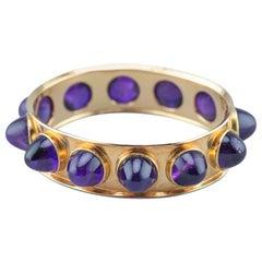 Ragna Sperschneider Unique Amethyst Bracelet 1970s 14 Karat Gold