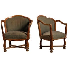 Ragnar Östman, Swedish Grace Armchairs, pair, Circa 1920, Origin Sweden