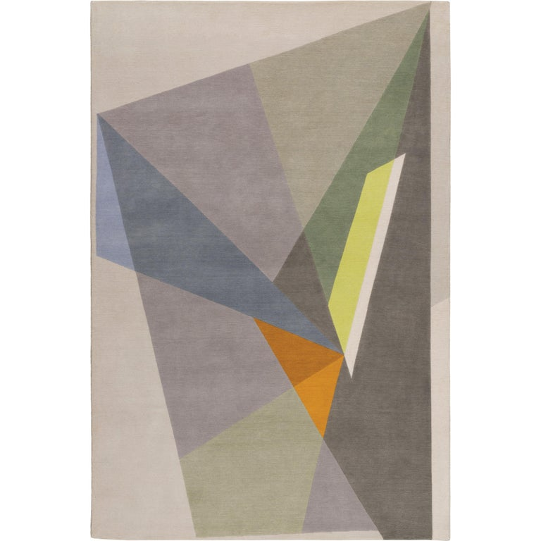Rai Hand-Knotted 10x8 Rug in Wool by Jaime Gili For Sale