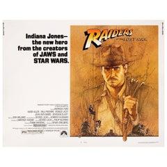 """Raiders of the Lost Ark"" 1981 U.S. Half Sheet Film Poster"