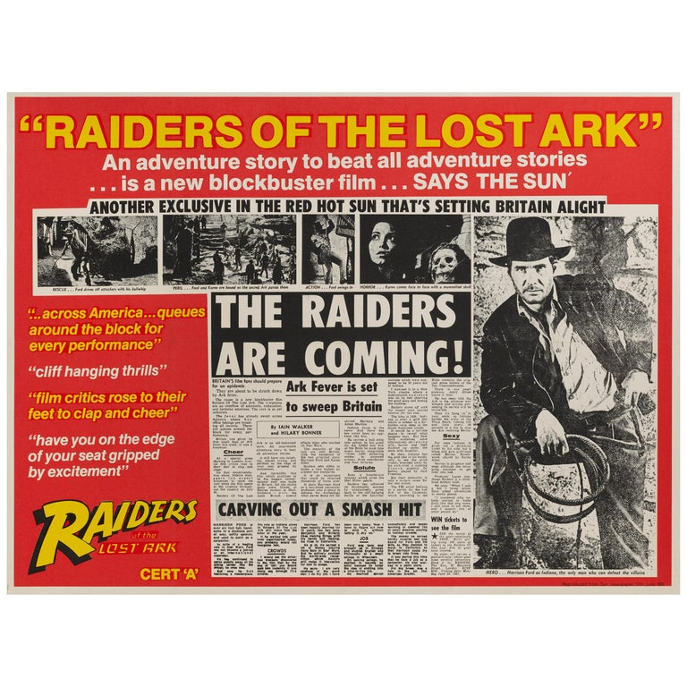 Raiders of the Lost Ark For Sale