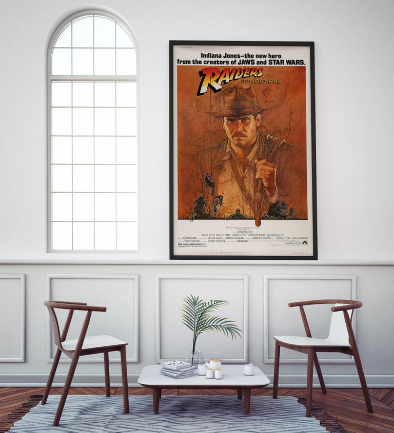 Post-Modern 'Raiders of the Lost Ark' Original US Movie Poster by Richard Amsel, 1981 For Sale