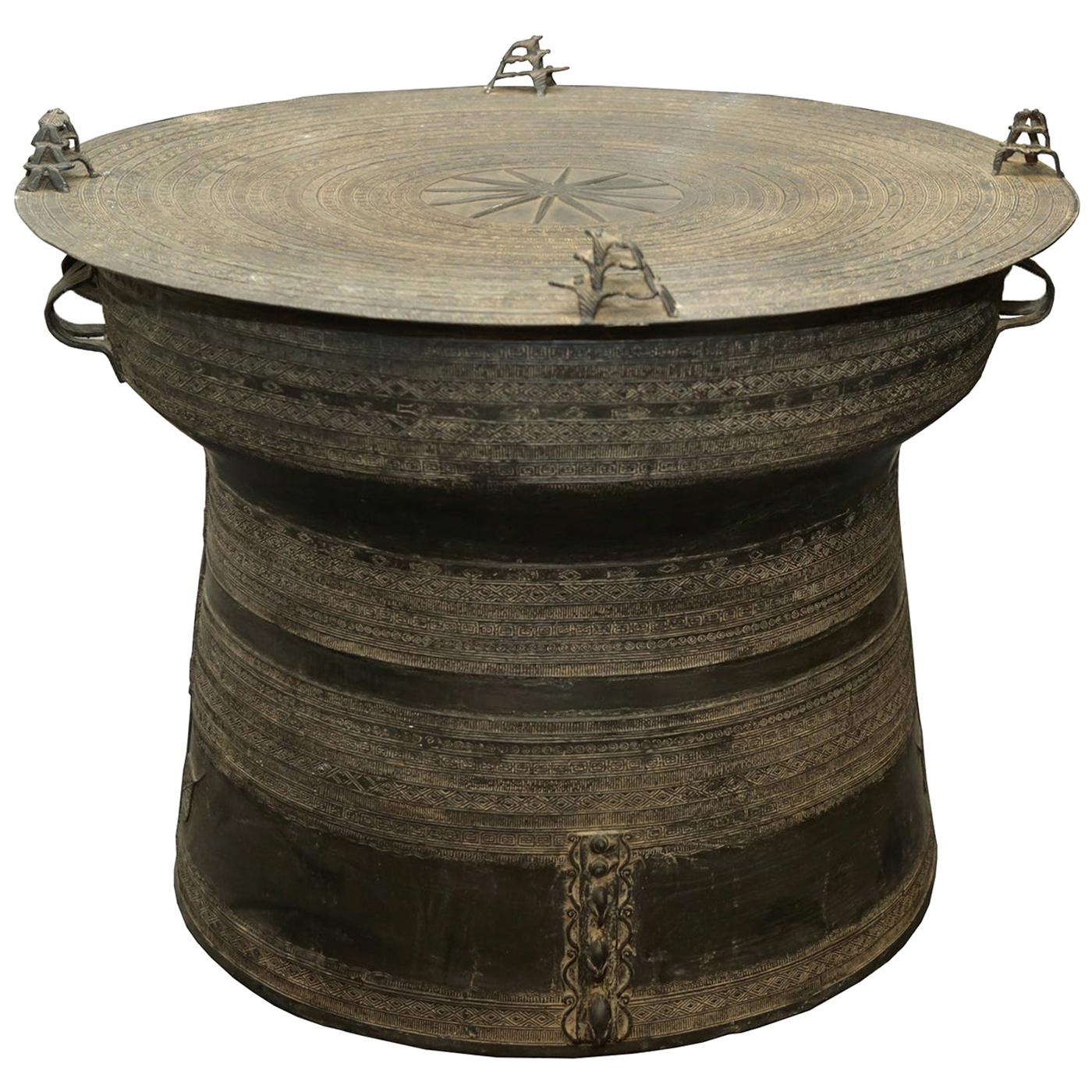 Rain Drum Dark Side Table