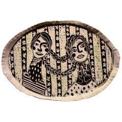 Rain or Shine, Carved porcelain