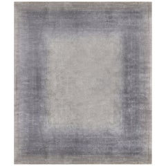 Hand Knotted silk rug - Rainbow Border Silex, Edition Bougainville