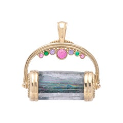 Rainbow Bridge Tourmaline Pendant