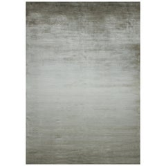Hand Knotted silk rug - Rainbow Bronze Gradient, Edition Bougainville