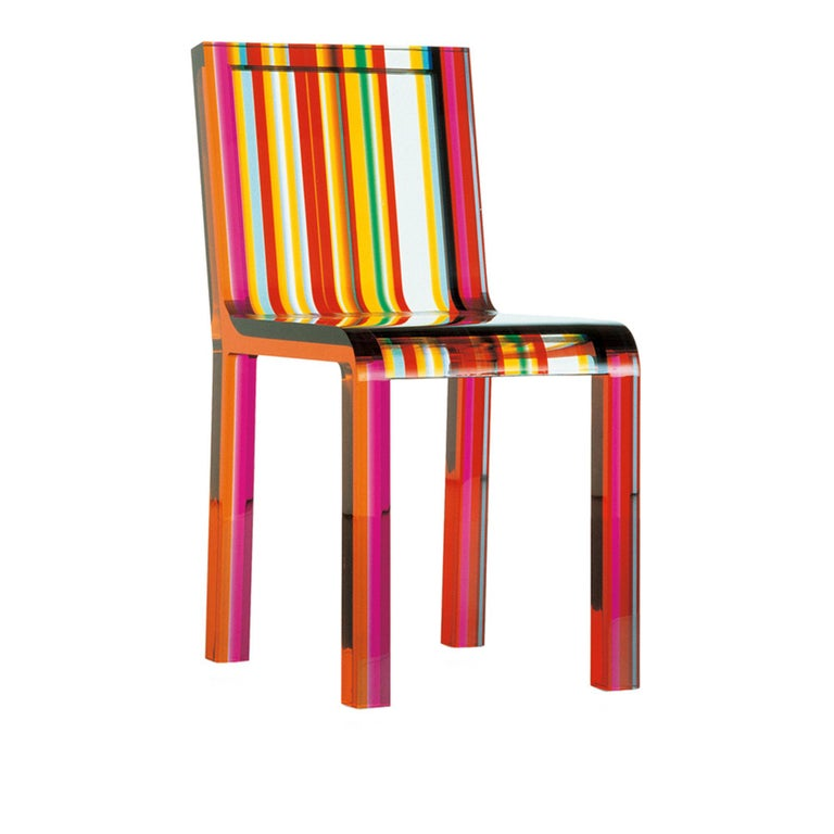 Rainbow Chair by Patrick Norguet for Cappellini 2000 Multi-Color Lucite Acrylic In Good Condition For Sale In Brooklyn, NY