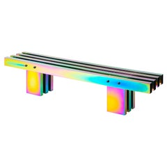 Rainbow Color Stainless Steel Hot Bench 'Large' Length by Studio Buzao