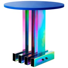 Rainbow Color Stainless Steel Hot Dining Table by Studio Buzao