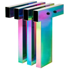 Rainbow Color Stainless Steel Hot Side Table by Studio Buzao