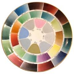 Rainbow Color Wheel Sample Porcelain Plate