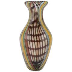 Rainbow Glass Vase, Italy, 1970s