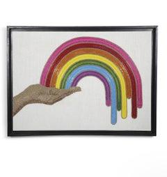 Rainbow Hand-Beaded Wall Art