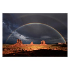 Rainbow over Monument Valley, Landscape Color Photography Fine Art Print