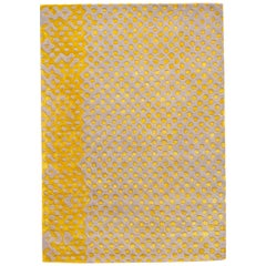 Raindrops Large Yellow Gray Rug by Matteo Cibic