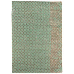 Raindrops Large Mint Green Rug by Matteo Cibic